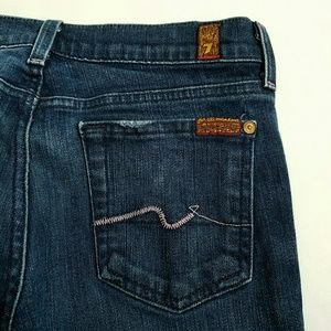7 for all Mankind Jeans - 7 For All Mankind Bootcut Jeans Pink Stitching Siz